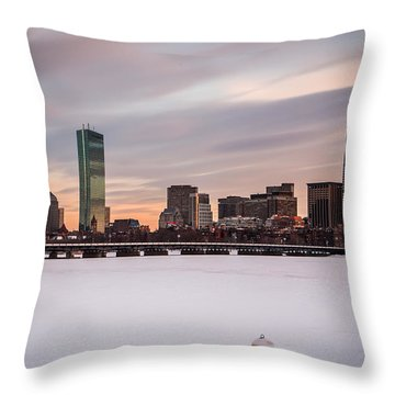 Frozen Buoy Throw Pillow