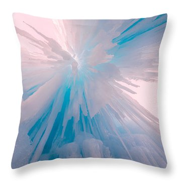 Frozen Throw Pillow by Chad Dutson