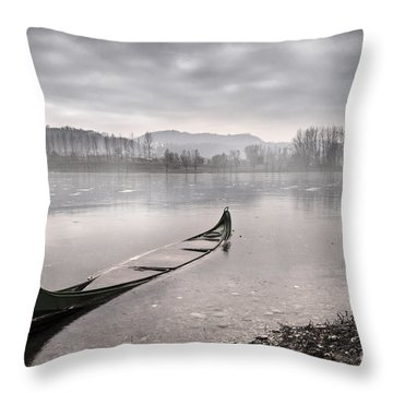 Frozen Day Throw Pillow by Yuri Santin