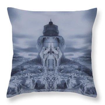 Frozen Dream On The Coast Throw Pillow