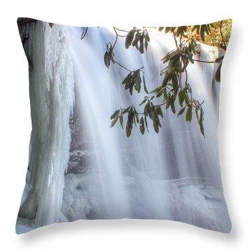 Frozen Dry Falls Throw Pillow