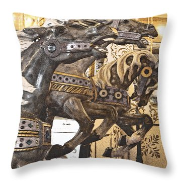 Throw Pillow featuring the photograph Frozen Gait I by Jani Freimann