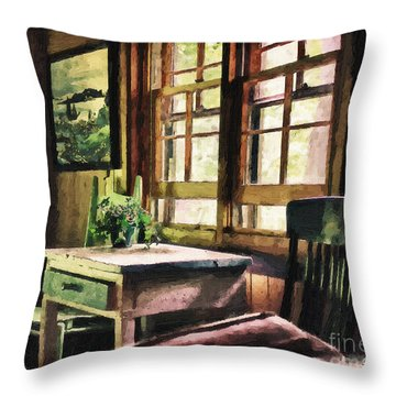 Frozen In Time - Oil Texture Throw Pillow