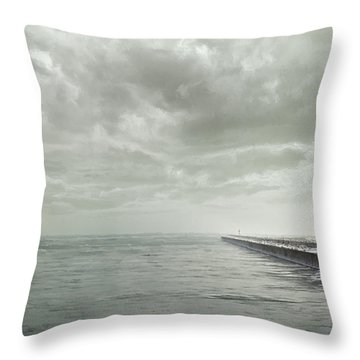 Frozen Jetty Throw Pillow by Scott Norris