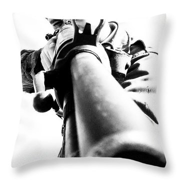 Throw Pillow featuring the photograph Frozen Kill by Stwayne Keubrick