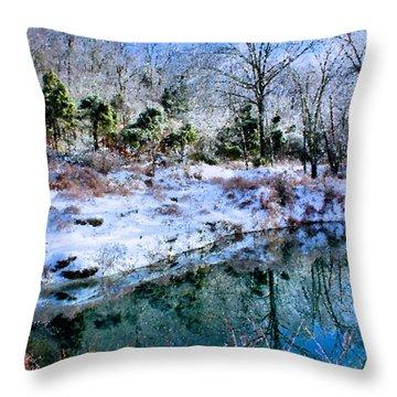 Frozen Throw Pillow by Kristin Elmquist