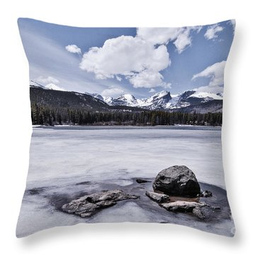 Throw Pillow featuring the photograph Frozen Lake by Mae Wertz