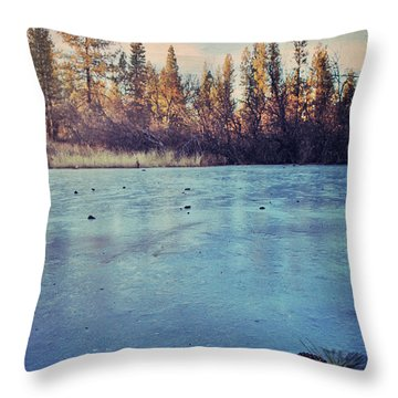 Frozen Throw Pillow by Laurie Search