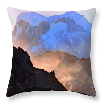 Frozen - Torres Del Paine National Park Throw Pillow