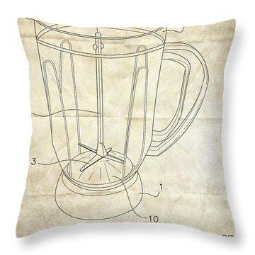 Frozen Margarita Recipe Patent Throw Pillow by Edward Fielding