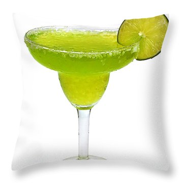 Frozen Margarita With Lime Isolated Throw Pillow