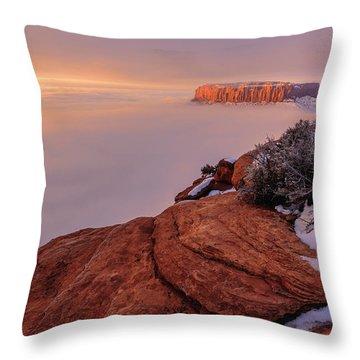 Frozen Mesa Throw Pillow