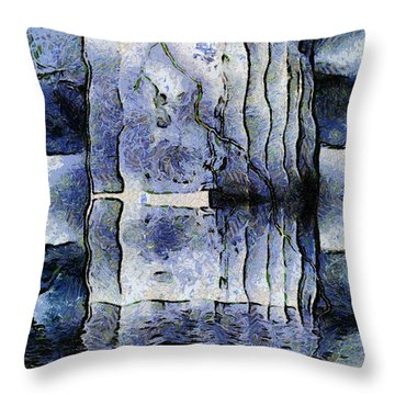 Frozen Monoliths Throw Pillow by Wendy J St Christopher