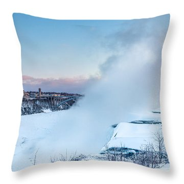 Frozen Niagara N1 Throw Pillow