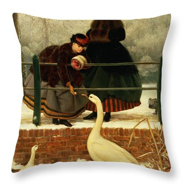 Frozen Out Throw Pillow by George Dunlop Leslie