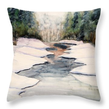 Frozen Over Throw Pillow by Kristine Plum
