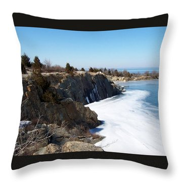 Frozen Quarry Throw Pillow by Catherine Gagne