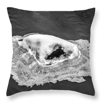 Frozen Rock Throw Pillow