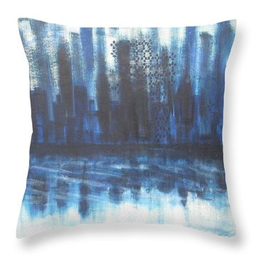 Frozen Skyline Throw Pillow