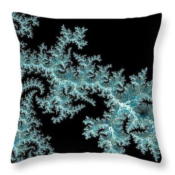 Throw Pillow featuring the digital art Frozen by Susan Maxwell Schmidt