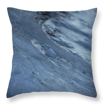 Throw Pillow featuring the photograph Frozen Wave by First Star Art