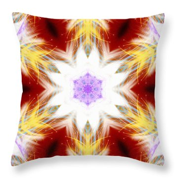 Frozen Whispers Throw Pillow