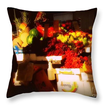 Throw Pillow featuring the photograph Fruit A La Caravaggio by Miriam Danar