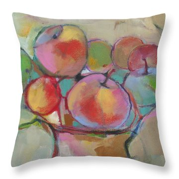Fruit Bowl #5 Throw Pillow by Michelle Abrams