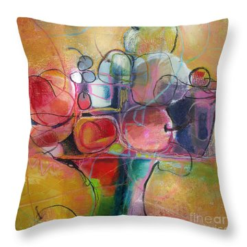 Fruit Bowl No.1 Throw Pillow by Michelle Abrams
