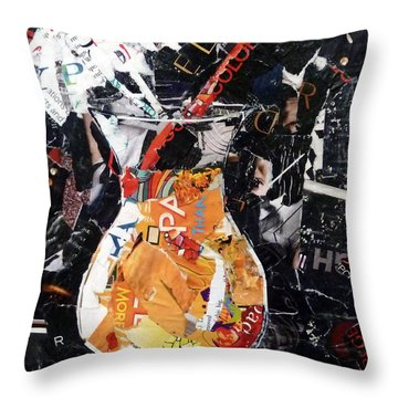 Fruit Cocktail Throw Pillow by Suzy Pal Powell