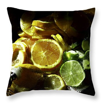 Fruit Drink Throw Pillow by Camille Lopez