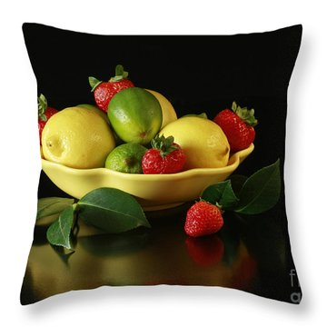 Fruit Explosion Throw Pillow by Inspired Nature Photography Fine Art Photography