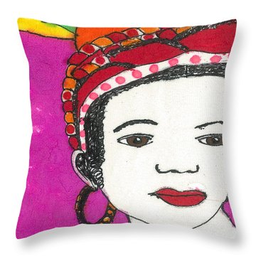Fruit Hat Throw Pillow