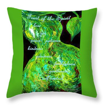 Fruit Of The Spirit Throw Pillow by Eloise Schneider