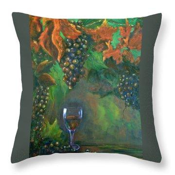 Fruit Of The Vine Throw Pillow