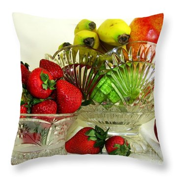 Fruit Still Life 1 Throw Pillow by Margaret Newcomb