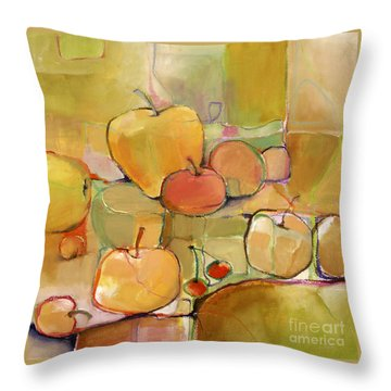 Throw Pillow featuring the painting Fruit Still Life by Michelle Abrams