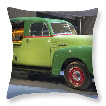 Fruit Wagon Throw Pillow by Michael Peychich