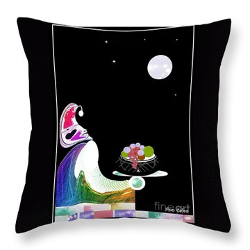 Fruitful Throw Pillow by Ann Calvo
