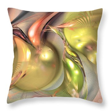 Fruitful - Abstract Art Throw Pillow