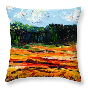 Throw Pillow featuring the painting Fruition by Meaghan Troup