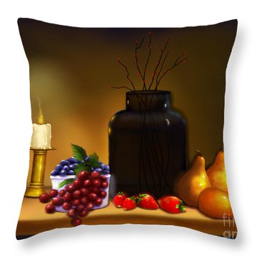 Fruits Of Life Throw Pillow by Sena Wilson