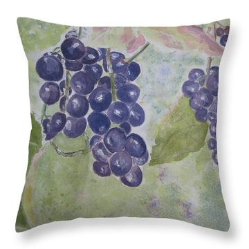 Fruits Of The Wine Throw Pillow by Elvira Ingram