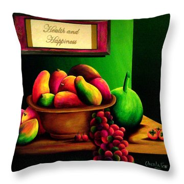 Fruits Still Life Throw Pillow