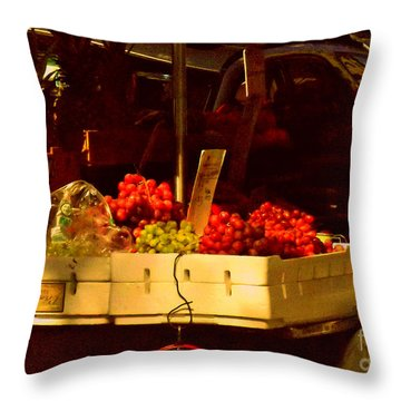 Fruitstand With Pineapples Throw Pillow by Miriam Danar