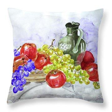 Fruit After Him Throw Pillow by Jasna Dragun