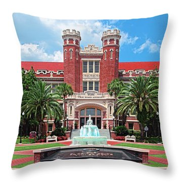 Fsu Westcott Building Throw Pillow