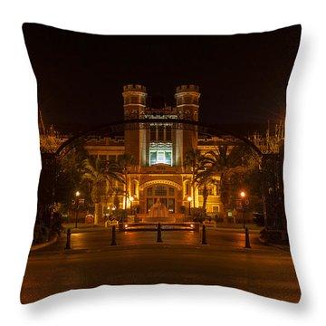Fsu Westcott Building/ruby Diamond Auditorium Throw Pillow by Frank Feliciano