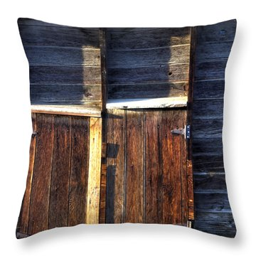 Ft Collins Barn Tin 13547 Throw Pillow by Jerry Sodorff