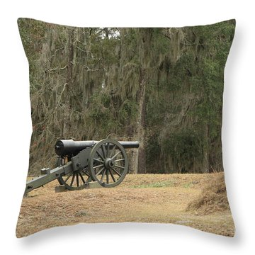 Ft. Mcallister Cannon 2 In Color Throw Pillow